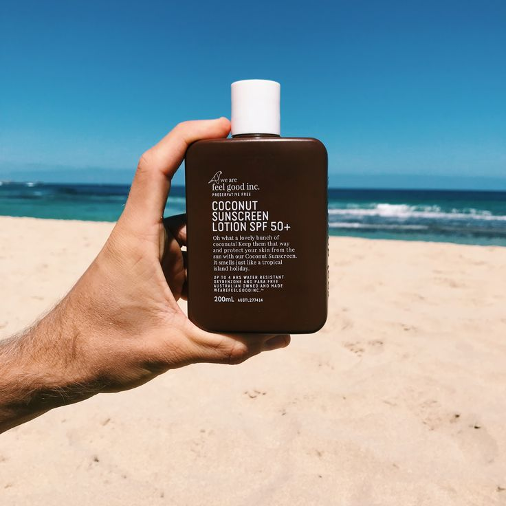 You get to smell like you are on a tropical island holiday with our Coconut Sun Lotion SPF 50+. Like all our sunscreens, it is preservative free and we have eliminated oxybenzone, paba and parabens so you can cover up with confidence.  Staying safe in the sun never smelt so good!  Gluten free and not tested on animals!