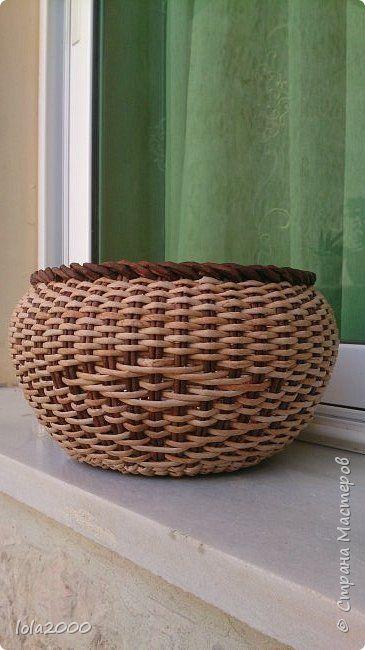 Поделка изделие Плетение мои новые работы Трубочки бумажные фото 2