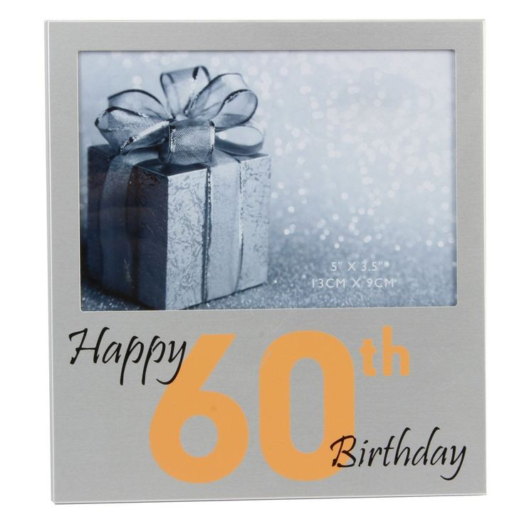 "Happy 60th Birthday Aluminium Photo Frame 5"" x 3.5"" from Haysom Interiors"