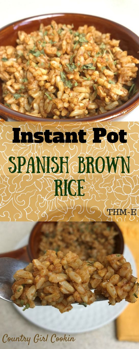 Instant Pot Spanish Brown Rice (THM-E)