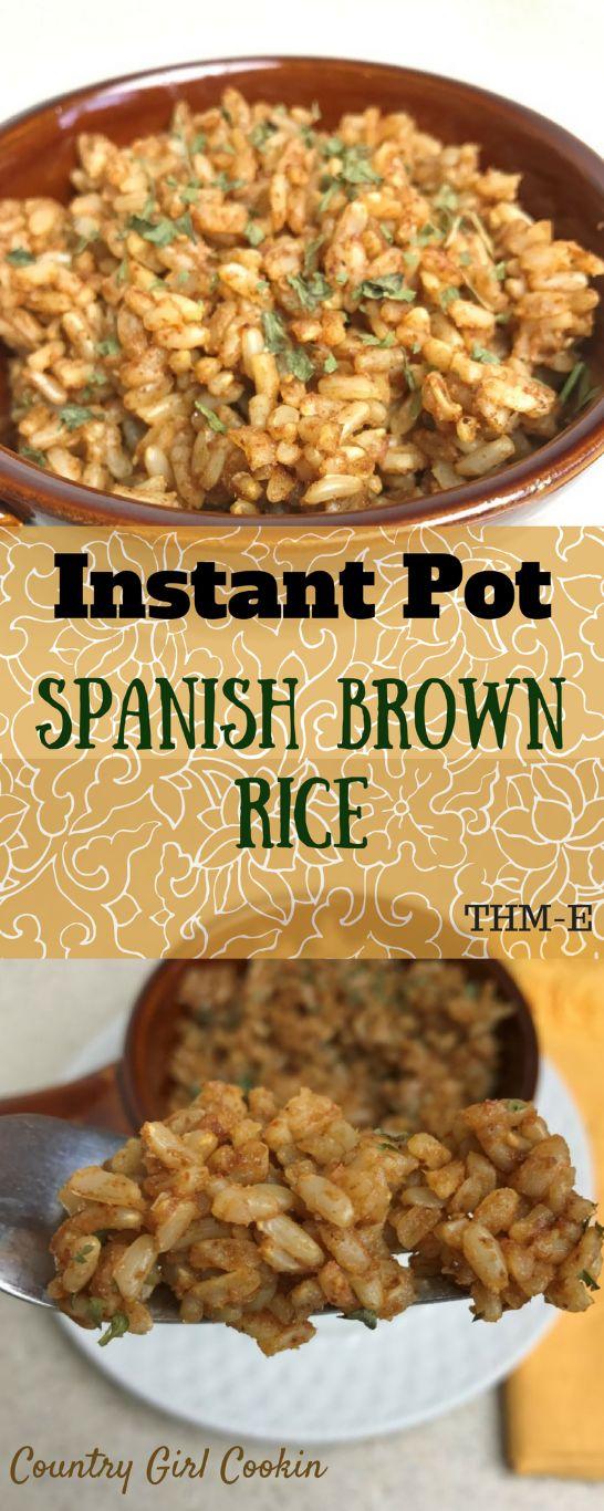 Instant Pot Spanish Brown Rice (THM-E)