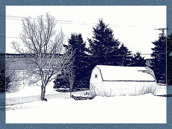 Winter Barn by Zinvolle - A barn in the snowfall. Photo taken in Newfoundland, Canada.