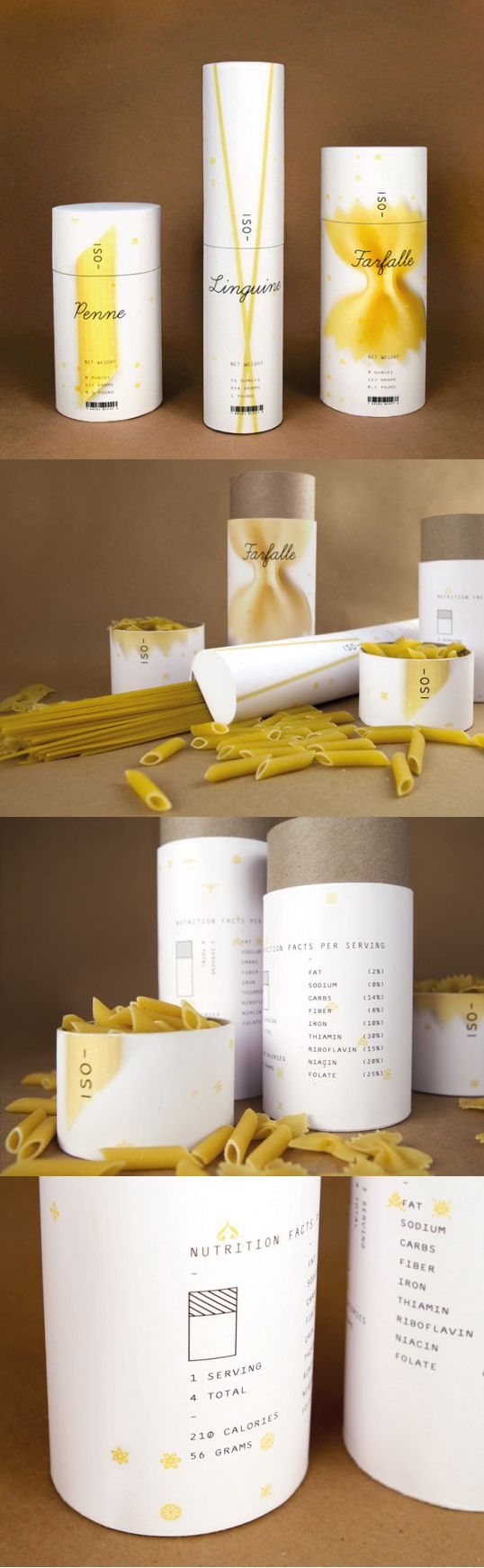 Unique Packaging Design on the Internet, ISO Pasta #packaging #packagingdesign #pasta