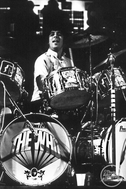 1968: Keith and his Premier 'Pictures of Lily' drums