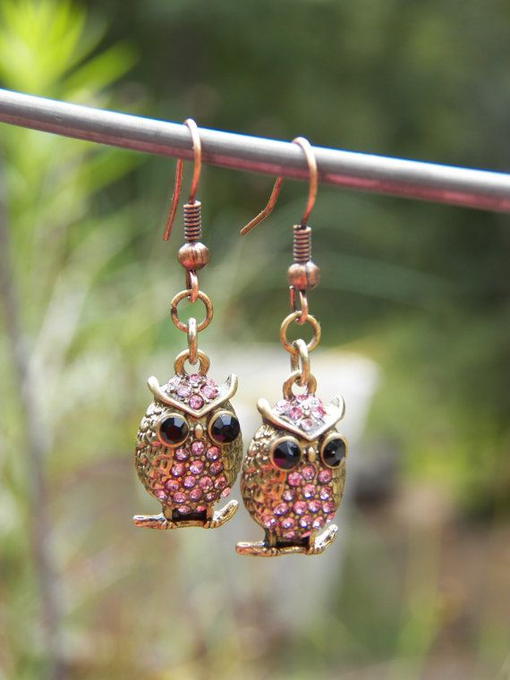 Owl Earrings Womens earrings Teen Girl Earrings by PjCreates, $15.00