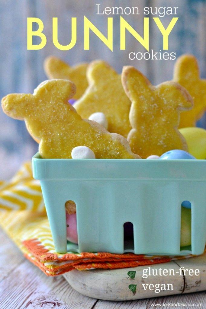 Lemon Sugar Cookies (Gluten-free Vegan) - Fork & Beans