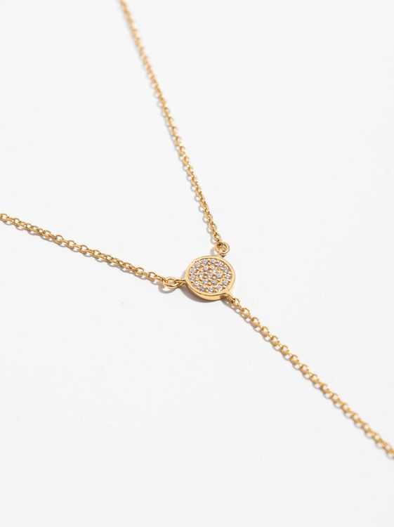 925 Sterling Silver & Gold Plated Necklace, Golden