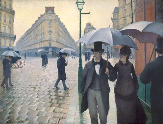 Gustave Caillebotte, 1877, Paris Street, Rainy Day