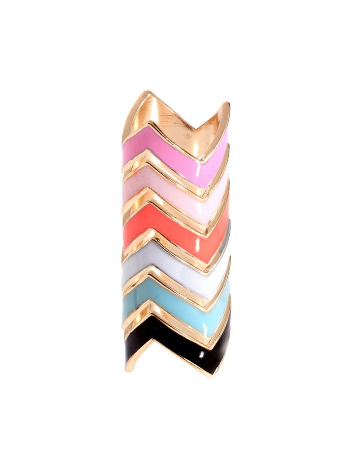 Very cool...: Zig Zag, Stackable Rings, Asos Packs, Zag Rings, Chevron Rings, Jewelry, Stacking Rings, Zigzag, Enamels Zig