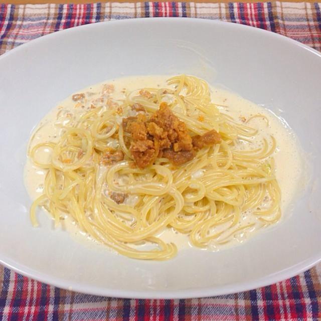 函館で買った塩うに。この食べ方が1番好き♥︎ - 11件のもぐもぐ - うにクリームパスタ by tm20070214