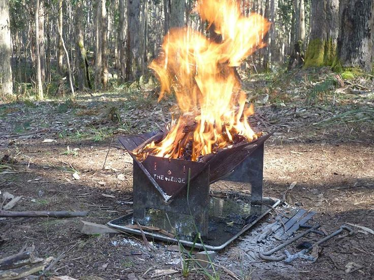 Portable Fire Pit Base : Best camping fire pits images on pinterest