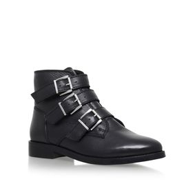 Total Black Flat Ankle Boots from Carvela Kurt Geiger