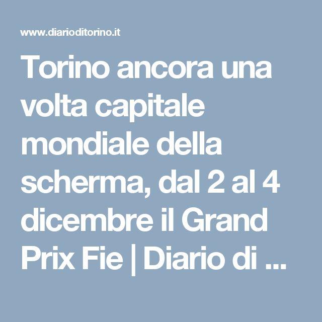 Torino ancora una volta capitale mondiale della scherma, dal 2 al 4 dicembre il Grand Prix Fie   Diario di Torino