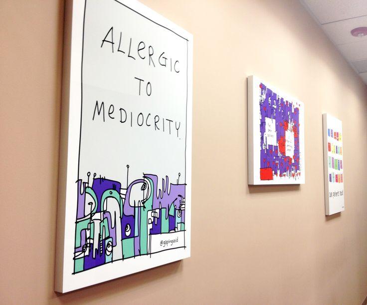 Allergic to mediocrity gapingvoid art homedesign homedecor interiordesign officedesign motivationalart
