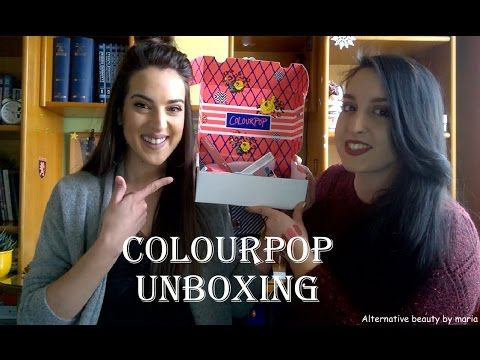 Colourpop Unboxing & First Impressions ft. Dimitra| Alternative beauty