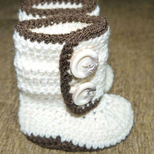 Crochet~ Ugg baby boots look a like