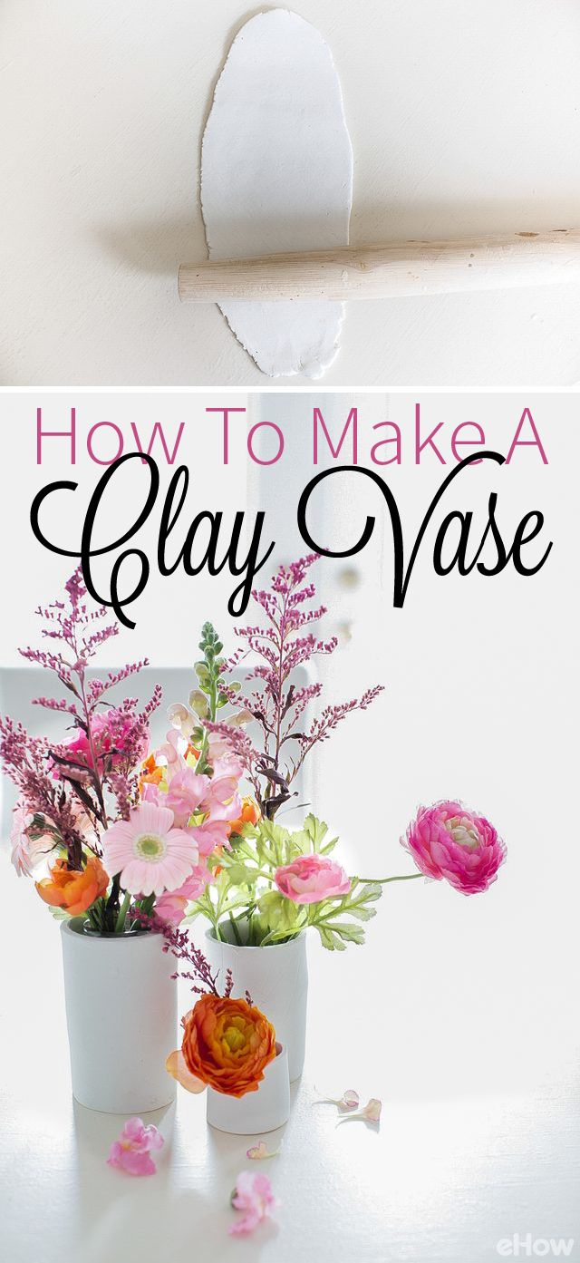 Make your own clay vase instead of spending tons of money on vases at your local home goods store. This makes for a great project with your family or friends on a weekend afternoon. DIY here: http://www.ehow.com/how_5164159_make-clay-vases.html?utm_source=pinterest.com&utm_medium=referral&utm_content=freestyle&utm_campaign=fanpage