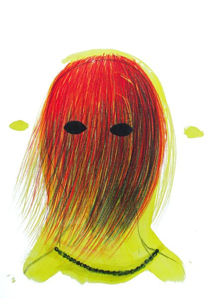 Untitled, drawing, acrylic, crayon, 2013 justyna-adamczyk.tumblr.com