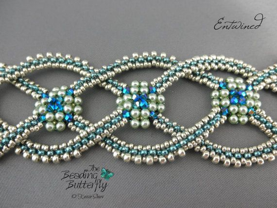 Entwined Bracelet Tutorial Layered Right Angle Weave And Faux Craw
