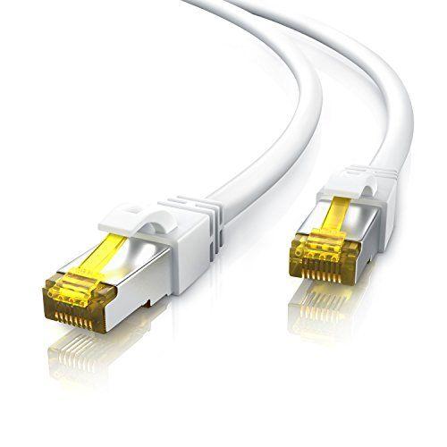 Uplink – 15m – CAT.7 600 MHz Ethernet Gigabit Lan câble réseau | LAN / patch câble avec fiches RJ45 | 10 / 100 / 1000 Mo/s | SF / FTP PIMF…