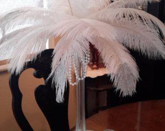 Great Gatsby inspired Ostrich Feather von ChantillysBoutique