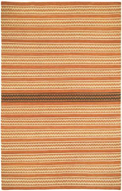 Our new Dokka Stripe rug in Saffron Kettle from the @genevieve gorder collection is perfect for adding #orange to any room. #CapelRugs