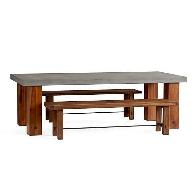 Abbott Chunky Leg Dining Table U0026 Abbott Bench Dining Set #potterybarn