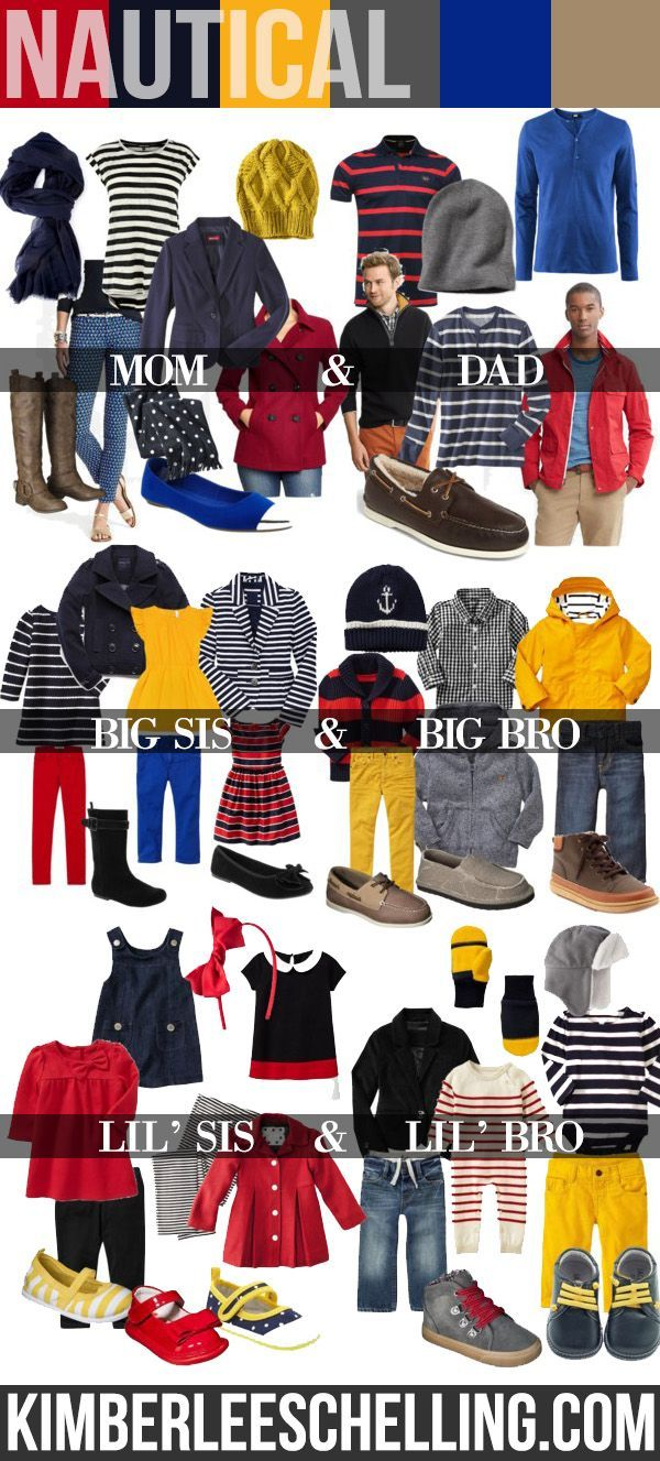 Family photos - what to wear: Nautical Family Photo Shoot - outfit inspiration