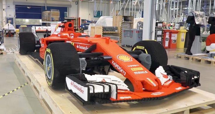 Knapp 350.000 LEGO-Bausteine und 750 Stunden später: Modell eines Ferrari SF16-H in Originalgröße ist fertig  Die Cubingmodelle in der Automobilindustrie dienen der Veranschaulichung eines neuen Designs und werden meist in Form gegossen. Die wichtigsten Mate...