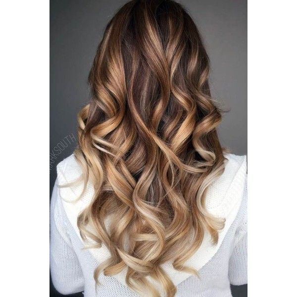 23 Balayage Hair Ideas in Brown to Caramel Tone | LoveHairStyles.com ❤ liked on Polyvore featuring accessories and hair accessories