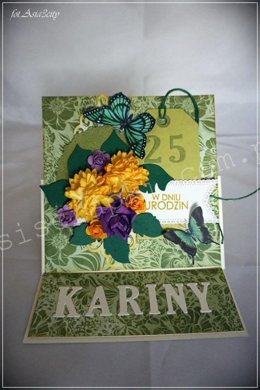 25 urodziny w wiosennych kolorkach. Galeria Papieru oraz papierowe kwiaty i tag. 25 urodziny Podobne