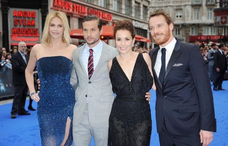 Charlize Theron, Noomi Rapace, Michael Fassbender, and Logan Marshall-Green at an event for Prometheus (2012)