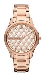 **NEW** LADIES ARMANI EXCHANGE AX ROSE GOLD C WATCH - AX5202 - RRP £189
