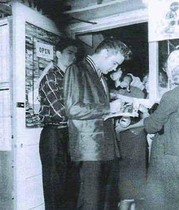 Elvis Presley at Stan's Record Shop in Shreveport, March 10, 1956