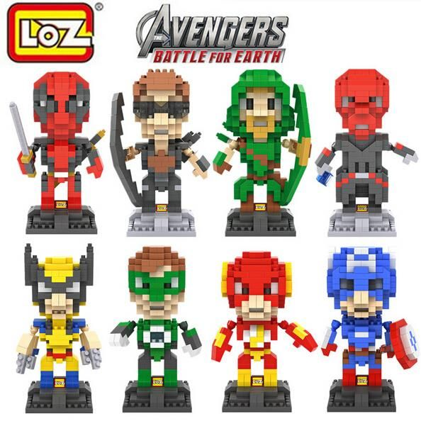 LOZ Marvel Super Heroes Deadpool Diamond Micro Building Blocks Action Figure Animation Minifigure //Price: $US $6.98 & FREE Shipping //     #toyz24