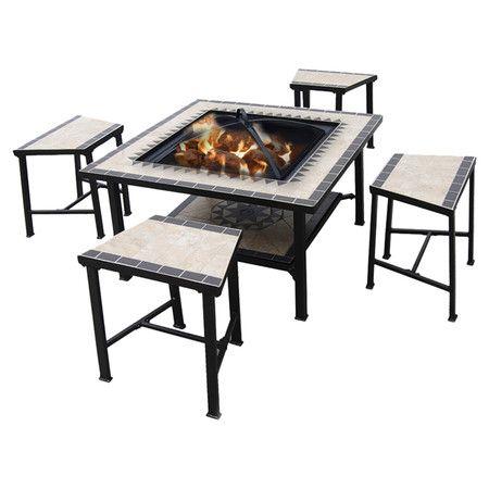 25 best ideas about fire pit table set on pinterest