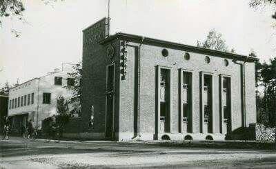 Anttilan kauppa ja talo, joka oli myöhemmin työväentalo. Vastapäätä yhteislyseota.