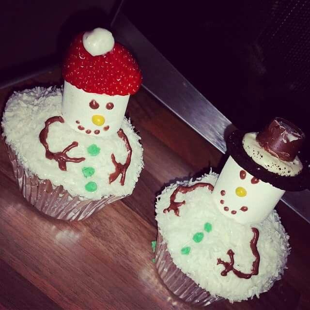 Snowmen cupcakes I made