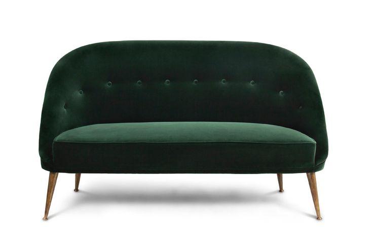 Malay 2 Seat Sofa Green Velvet Sofa Green Velvet And