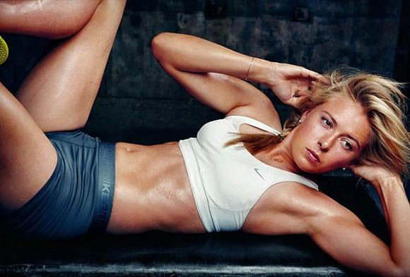 "Nike's Portraits of Power: ""Make Yourself"" Fall 2011 ad campaign. Photography by Annie Leibovitz: Maria Sharapova, Pro tennis player, Russia."