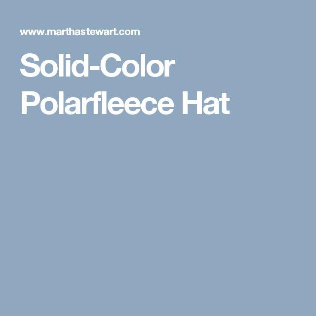 Solid-Color Polarfleece Hat