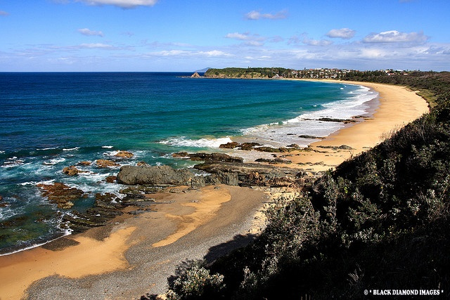 Black Head Beach, Hallidays Point, NSW - Viewed From Redhead © All Rights Reserved - Black Diamond Images