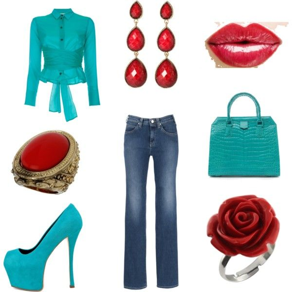 Love turquoise and red.