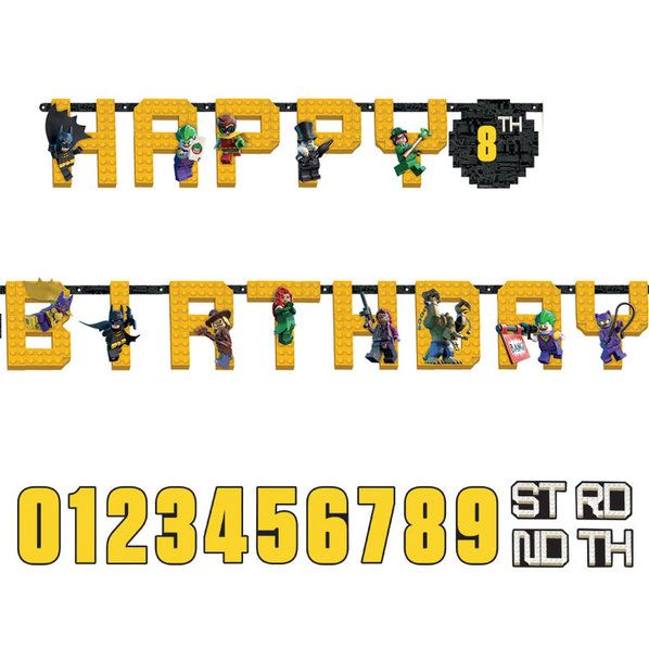 Check out Lego Batman Jumbo Letter Banner | Lego Batman party supplies from Birthday in a Box from Birthday In A Box
