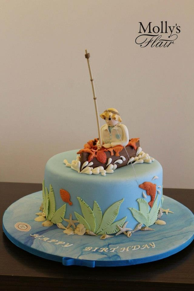 32 best Fishing cakes images on Pinterest Fishing cakes Birthdays