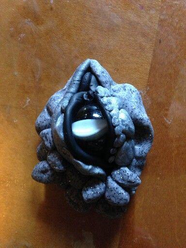 Clay marble dragon eye
