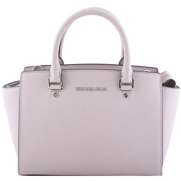 Michael Kors Selma Tote ($305) ❤ liked on Polyvore featuring bags, handbags, tote bags, purses, tortora, pink tote purse, pink tote, tote hand bags, tote bag purse and handbags tote bags