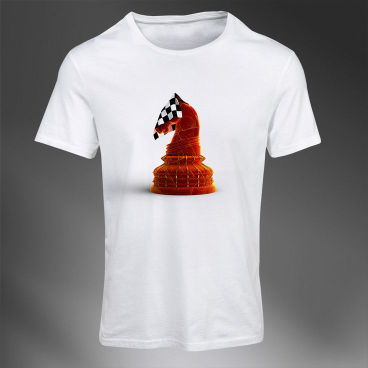 The Red Knight #TheRedKnight #white #chess #tshirt #clothing #premiumchesswebshop #chesswebshop