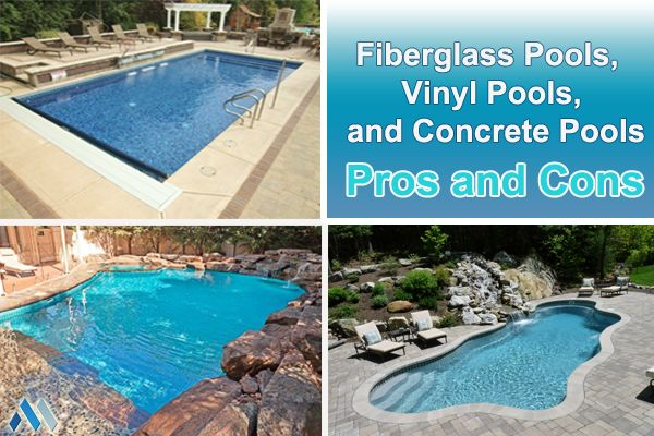 1000 ideas about vinyl pool on pinterest pool liners - Concrete swimming pools vs fiberglass ...