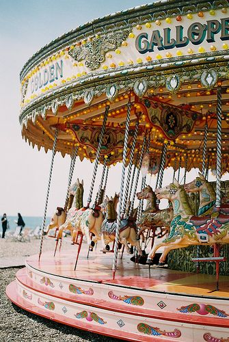 Not sure where this is, but it's a European style carousel. The horses face left and not right, like American carousels do.